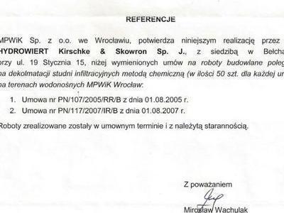Referencje MPWiK 2007
