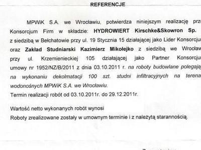 Referencje MPWiK 2011